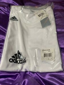 Details about Adidas Boys Squad II Jersey T-Shirt White