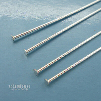"4PC Sterling Silver Heavy Duty Head Pin 18 Gauge / 1mm, 75mm / 3"" inch #33706"