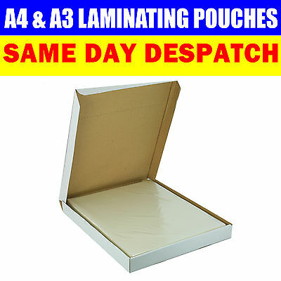 A3 A4 LAMINATING POUCHES 150 MICRON LAMINATOR MACHINE POUCHES SHEETS