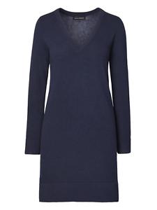 NWT Banana Republic Italian Superloft Sweater Dress Navy SZ ST S T  v112