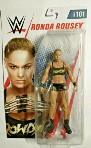 "WWE WWF Divas Basic Series 101 Ronda /""Rowdy/"" Rousey action figure par Mattel"