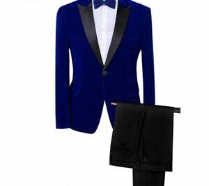 Classic-Velvet-Suits-Men-Slim-Fit-Tuxedo-Prom-Special-Event-Formal-Clothing-Wear