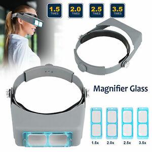 Optivisor-Lens-Head-Magnifier-Glasses-Magnifying-Visor-Glass-Headband-4-Lenses