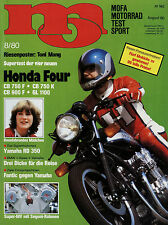 mo 8/80 1980 Yamaha RD350LC Aspes 80 BMW R 100 T Kawasaki Z 1300 T Fantic TX 360
