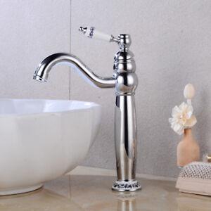 Retro Nostalgie Hoch Einhebel Wasserhahn Bad Waschbecken Armatur