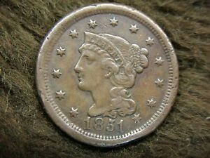 1851-U-S-BRAIDED-HAIR-LARGE-CENT-LOADS-OF-DETAIL