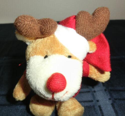 Frohe Weihnachten Elch Weihnachtselch Stofftier Kuscheltier Teddybear Teddy Stofftiere