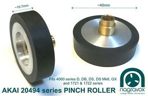 Akai pinch roller larger 20494 for 4000 series d db ds ds mkii gx image is loading akai pinch roller larger 20494 for 4000 series altavistaventures