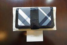 Authentic Burberry Black Leather Nova Check Large Wallet