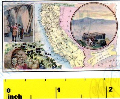 CDHM DOLLSHOUSE Vintage Miniature State of Florida   1888   MAP  Print