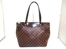 Authentic LOUIS VUITTON Damier Westminster GM N41103 Ebene Shoulder Bag DR4173