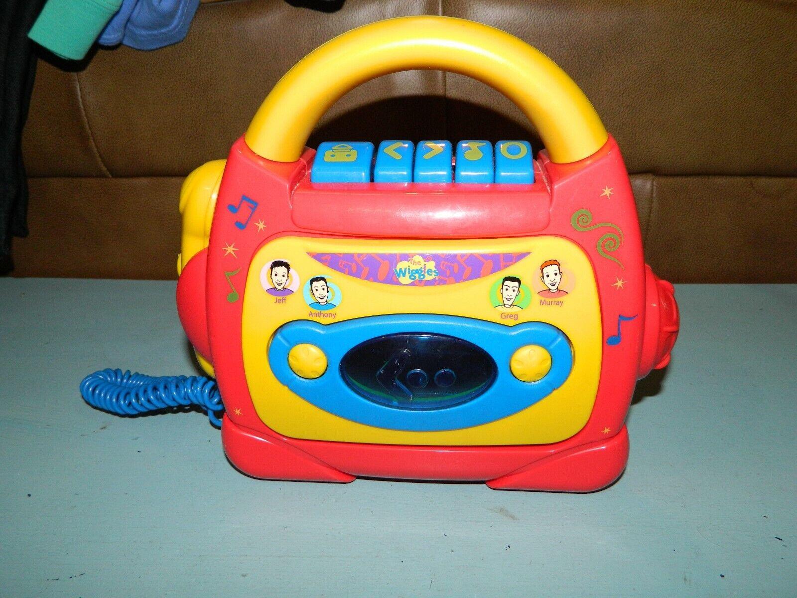 Grabador Reproductor De Cinta De Cassette The Wiggles micrófono Sing-a-Long Modelo 24098