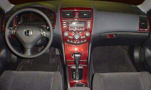 Honda Accord Lx Ex Se Interior Wood Dash Trim Kit Set 2003 2004 2005 2006 2007 Ebay