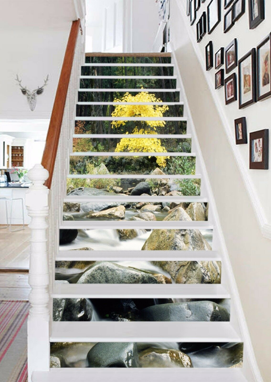 3D Tree stone Stair Risers Decoration Photo Mural Vinyl Decal Wallpaper AU