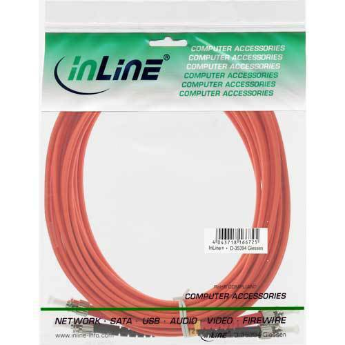 ST//ST 50//125µm InLine® LWL Duplex Kabel 30m