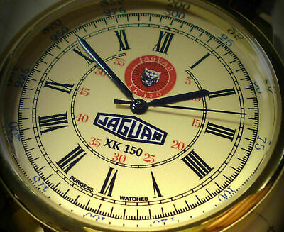Jaguar XK140 Style Wall Clock Magnolia Vintage 1950/'s Style Replica Dial.