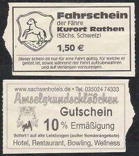 Ticket Fahrschein Fähre Rathen Sächsische Schweiz
