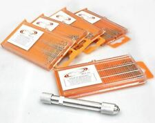 21pcs Mini HSS Twist Micro-Drill Bit Set Index 61-80 w//Aluminum Hand Drill hobby