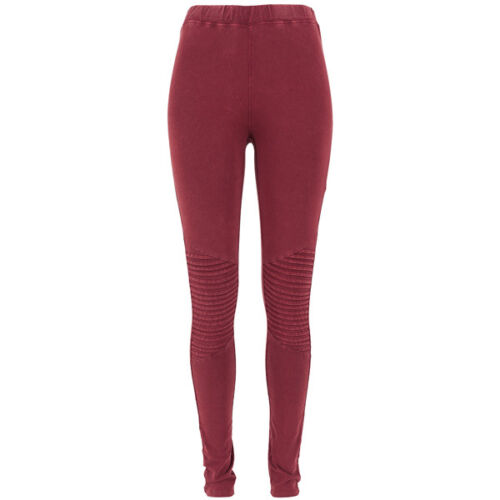 URBAN CLASSICS Ladies Denim JERSEY Leggings Donna Pantaloni Burgundy tb1056-00606