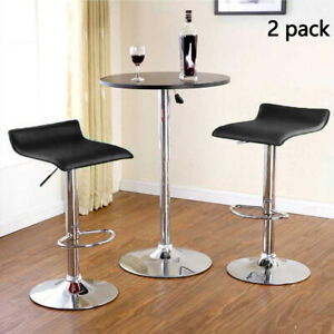 Fantastic Details About 2Pcs Bar Stools Swivel Kitchen Breakfast Bar Stools Chair Pu Leather Gas Lift Creativecarmelina Interior Chair Design Creativecarmelinacom