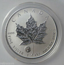 2016 Canadian 1 oz Silver Maple Leaf Yin Yang Privy .9999 Silver Bullion Coin