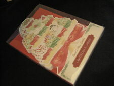 Carol Wilson Fine Arts 10 Christmas Boxed Cards Envelopes Cupcakes Cup Cake