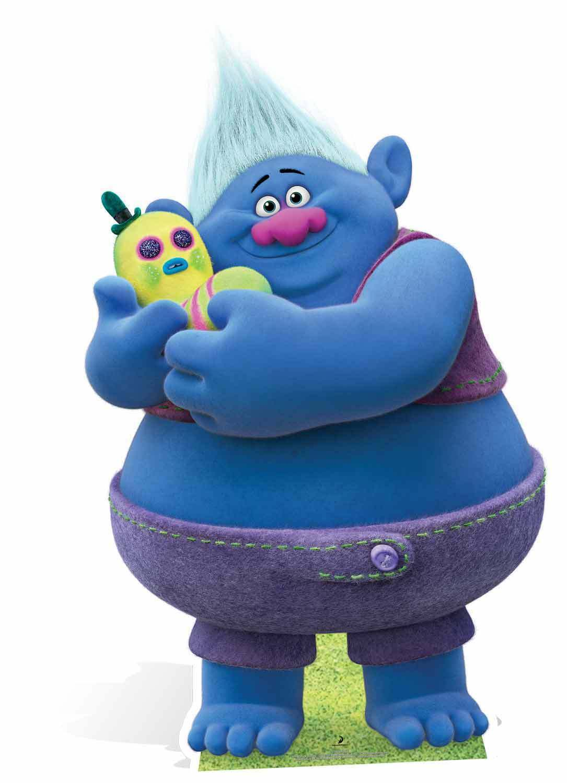 Biggie aus DreamWorks Trolle Pappfigur   Aufsteller   Aufstell James Corden