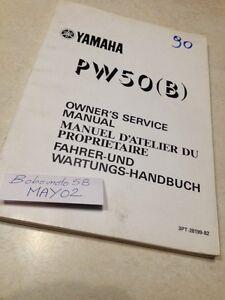 Yamaha-PW50-PW-50-B-3PT-peewee-50PW-Werkstatthandbuch-Eigentuemer-Hg-90