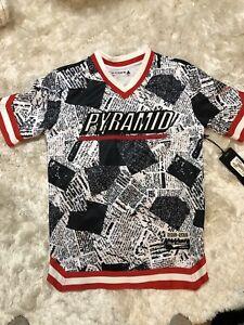 purchase cheap 29131 d924c Details about Black Pyramid Jersey Sz S Chris Brown