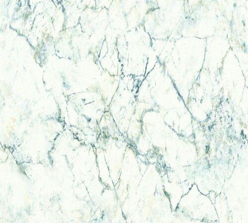 A.S Materials 36157-1 nappes papier peint marbre simili vert bleu blanc
