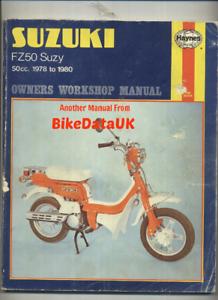 Suzuki-FZ50-Suzy-1978-gt-gt-Haynes-Shop-Manual-Service-amp-Repair-Book-FZ-50-N-CG75