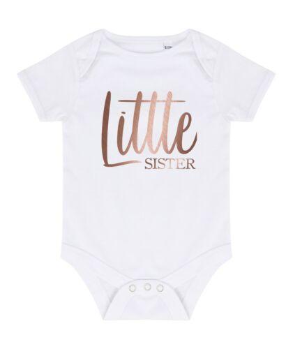 Or Rose Big /& Little Sister T-shirts /& Révélateurs-Reveal Fête filles tout-petits