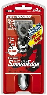 """SAMURAI Edge"" Feather Safety Razor F-System Holder Made in JAPAN"