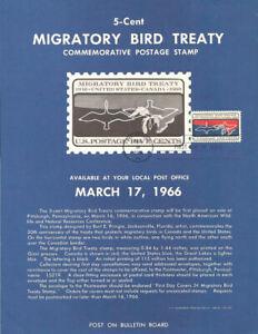 1306-5c-Migratory-Birds-Stamp-Poster-Unofficial-Souvenir-Page-Flat