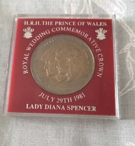 Royal Wedding Commemorative Crown Coin The Prince Of Wales Lady Diana Spencer Ebay