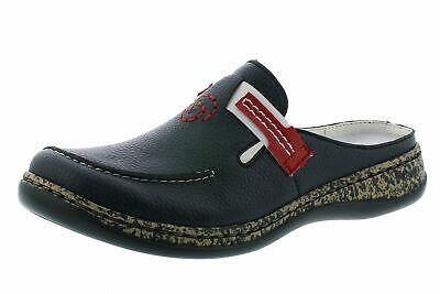 Rieker 46393 15 Damen Schuhe Pantoletten Clogs blau | eBay DgVeH