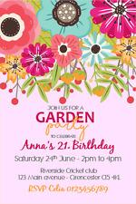 10 x personalised garden afternoon tea birthday party invitations ebay