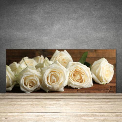 Küchenrückwand aus Glas ESG Spritzschutz 125x50cm Rosen Pflanzen
