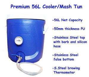 Brand New Premium 56L Cooler/Mash Tun HomeBrew All Grain brewing