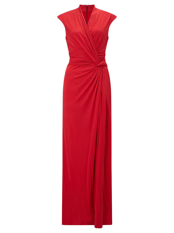 John John John Lewis Raspberry rot Full Length Maxi Twist Front Dress 8,10,12,14,16,18,   Ausgewählte Materialien  7e2e94