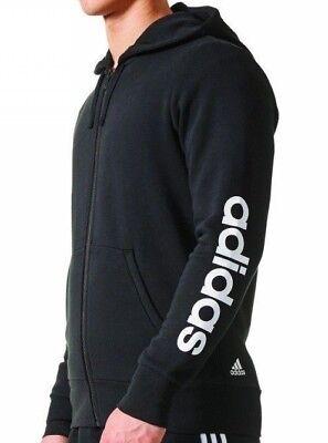 Adidas ESS LIN FZ Black Full Zip Track Top Hoody Size XS XXL – BR4058 | eBay