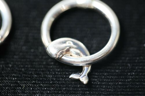 Details about  /RARE Vintage KABANA 925 Sterling Silver Marlins Earrings NEW Jewelry