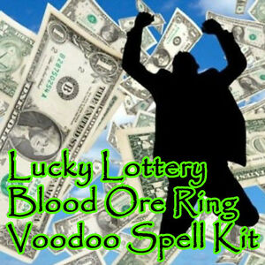 Details about Lucky Lottery Money Voodoo Blood Ore Ring Spell Kit Ritual  Lotto Money Hoodoo