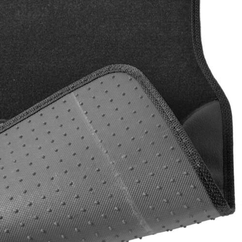 Charcoal Gray on Black Striped Car Seat Covers Sport Mesh Cloth w// Two Tone Mats