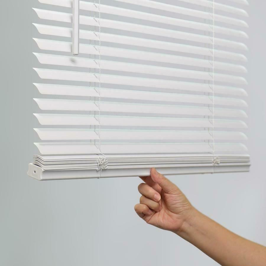 29 X64 1 Inch Light Filtering White Vinyl Mini Window Blind Child Safe For Sale Ebay