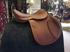"NEW Pessoa Heritage Pro Saddle - 17.5"" Reg Flap - Oak - Salesman Sample"