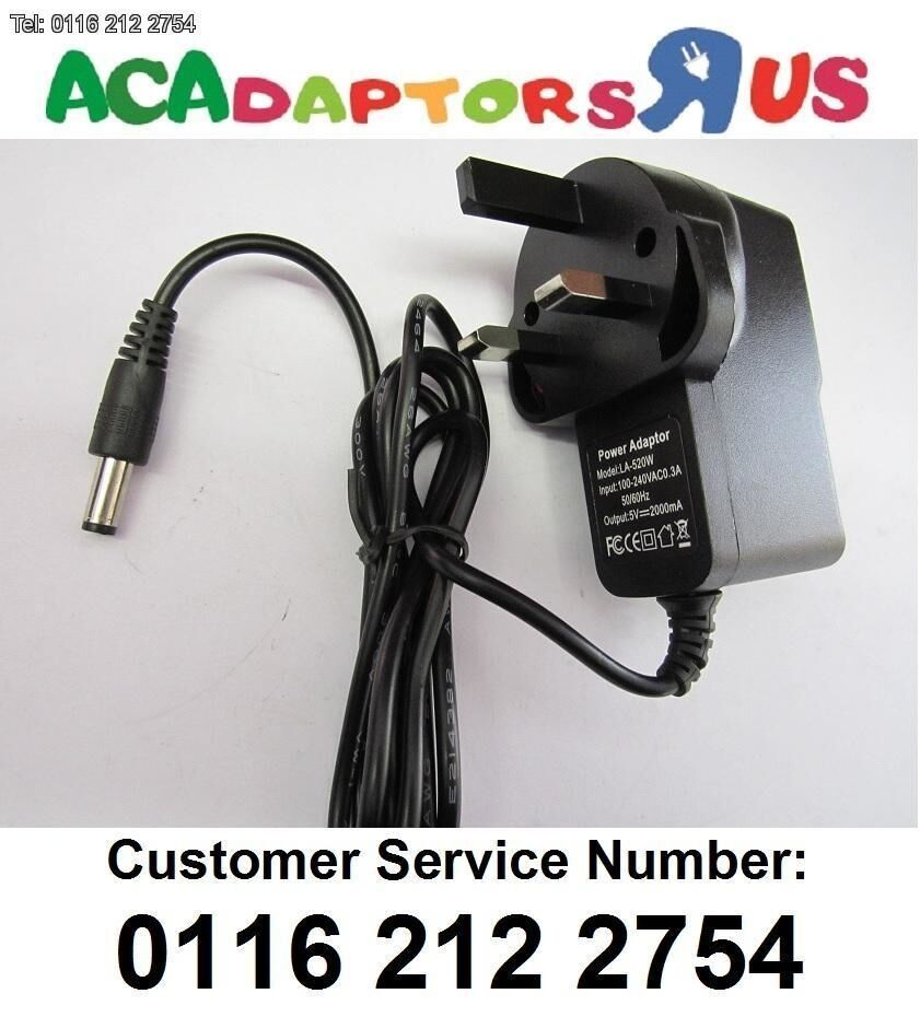 UK 5V 2A Switching Adapter Charger Power Supply 5.5mm for MX Pro Android Box