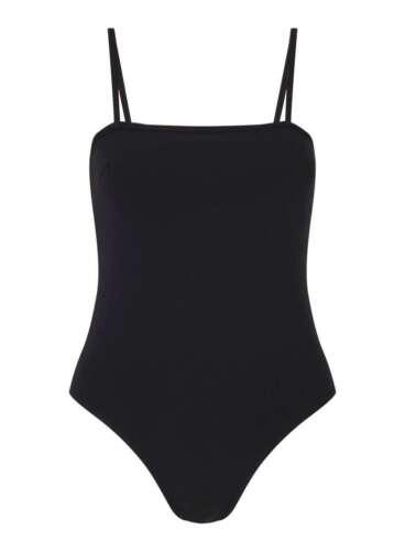 Womens Basic Jersey Skinny Strap Square Neck Bodysuit Leotard Bralet Body Top