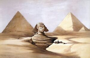 The-Great-Sphinx-Pyramids-of-Gizeh-by-David-Roberts-History-11x17-Print
