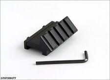 Tactical 45° Angle Offset 20mm Weaver Rail Mount Picatinny 4 Slot  - USA SELLER